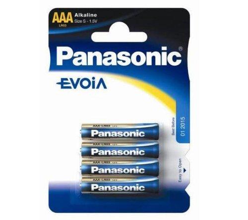 Panasonic 4 AAA Evoia - Batterien (Alkali, 1,5V, AAA)