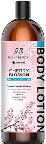 Radha Beauty Moisture Rich Body Lotion 8 oz Infused with Coconut Oil Hempseed Oil Sunflower product image