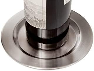 Set of 4 Brushed Stainless Steel Smooth Pratique Wine Bottle Coasters
