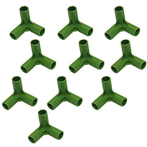 buycheapDG(JP) プラントサポート コネクタ ガーデンツール 温室フレーム プラスチック製 園芸ラック フラワースタンド 棚 温室アクセサリ− 固定 プラントサポート プラントステークジョイント Y型3方向 11mm×10個