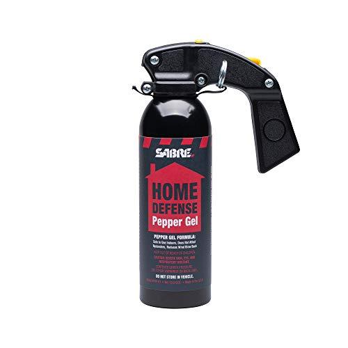 SABRE RedHome Defense Pepper GelWithWall Mount, 32 Bursts, 25 Foot (7.6 Meter) Range, UV Marking Dye Helps Identify Suspects, Full Hand Grip, Pin Safety, Gel Is Safer