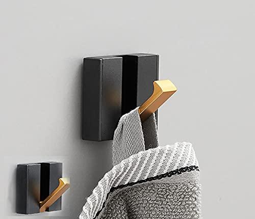 Deshop Paquete de 2 ganchos autoadhesivos para colgar en la pared, ganchos sin agujeros de perforación, baño, cocina, dormitorio, armario (gancho individual)