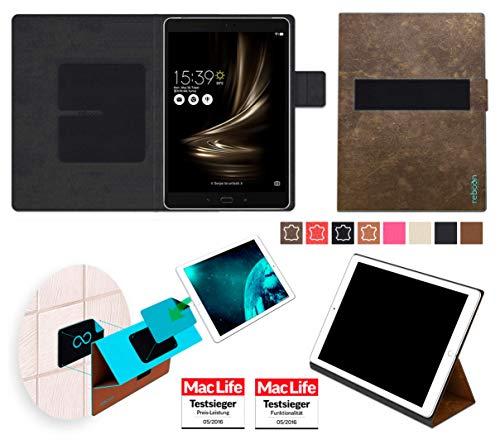 reboon Hülle für Asus Zenpad 3S 10 Z500KL Tasche Cover Case Bumper | in Braun Wildleder | Testsieger