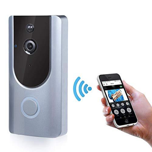 WFGZQ 720P Smartdrahtloses Türklingelvideo, 166 ° HD-Smart-Video-Türklingel Mit Kamera, Nachtsicht Und Bewegungserkennung PI-Überwachungskamera-Türklingel Für Ios Und Android