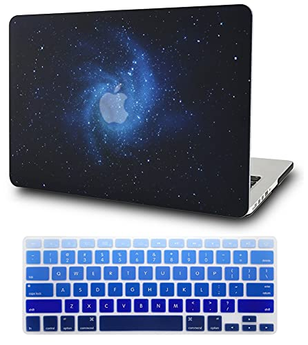 KECC Laptop Case Compatible with MacBook Pro 15 (2019/2018/2017/2016) w/Keyboard Cover Plastic Hard Shell A1990/A1707 Touch Bar 2 in 1 Bundle (Blue)