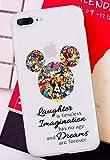 Art-design Custodia per iPhone XR Mickey Mouse Mini Disney Land Dreams Are Forever Transparante...