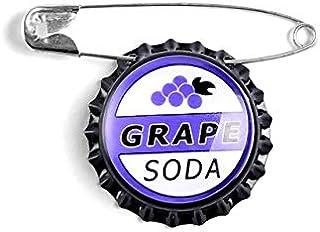 Tapas de botellas de refresco de uva Anime dibujos animados película insignia broches camisa de mezclilla solapa pines seg...