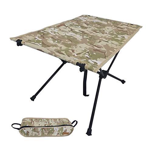 [わずか700gのキャンプテーブル] rabbit-foot outdoors コンパクト アウトドア テーブル 折りたたみ式 [日本メーカー 使用後の不具合にも対応] 保証書 収納付き (迷彩)