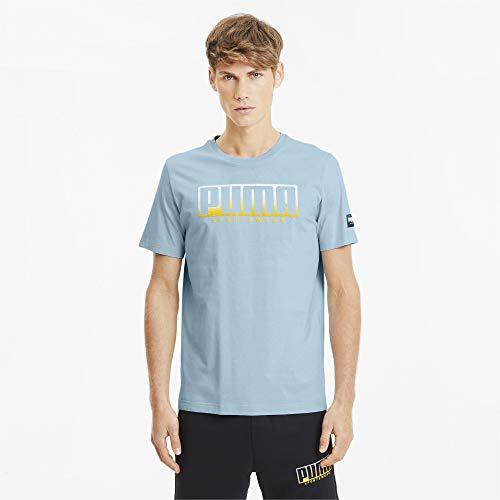 PUMA Camiseta Athletics Big Logo Aguamarina