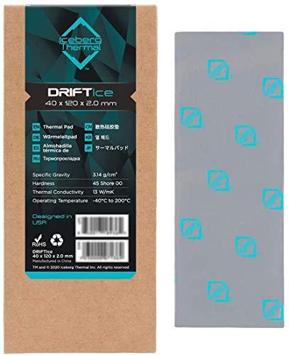 One enjoy Pad Termico 13 W MK, 120x40x2mm Iceberg Thermal Pad, DRIFTIce Pad Termici in Silicone per dissipatore di Calore GPU CPU LED (2mm)