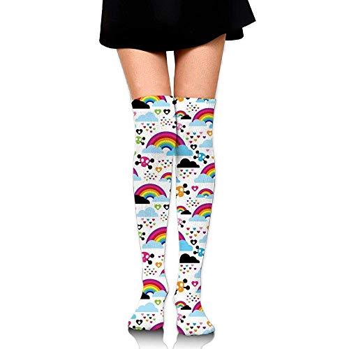Calcetines altos divertidos para mujer - niña
