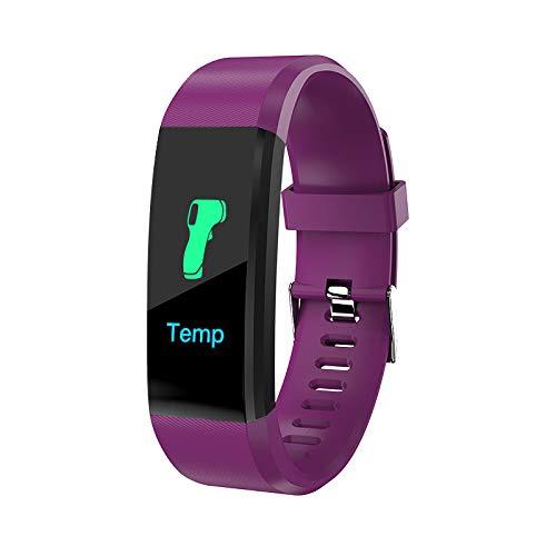 FANGYUN Reloj inteligente, pulsera deportiva con presión arterial y frecuencia cardíaca, pulsera deportiva de grabación de sueño, podómetro, apto para hombres y mujeres
