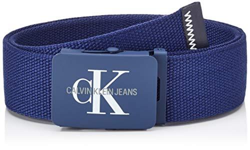 Calvin Klein J 4cm Adj.monogram Canvas Belt Cintura, Blu (Navy 411), Small (Taglia Produttore: 115) Uomo
