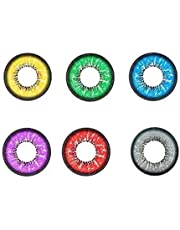 1 paar glazen, Gekleurde Super Natuurlijke Lens, Ronde Bril Leerlingen Pupil Oogbal, Animatie Cosplay Kleur Lens