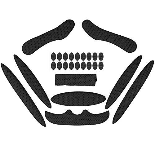 Himetsuya Helmpolster-Set für Fahrrad 1Satz, Universal-Schaumstoff-Pads für Airsoft Helm, Eva-Polster für Fahrrad, Motorrad und Radhelm Schwarz