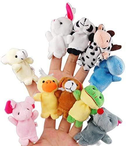 SHILU Títeres de Dedos de Animales interesantes, no Solo de tamaño pequeño, Sino Que también Pueden desarrollar Habilidades prácticas y Pueden Jugar con Amigos