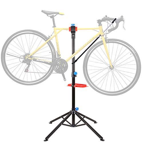 Femor Soporte de Reparación de Bicicletas, Caballete Reparación para Bicicleta con Marco Telescópico, Altura Ajustable, Portátil, Plegable, para Mantenimiento de Bicicletas, Carga Máxima 50 kg