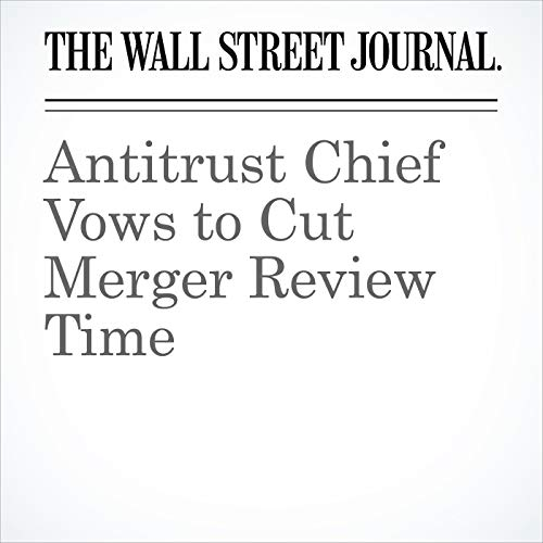 Antitrust Chief Vows to Cut Merger Review Time copertina