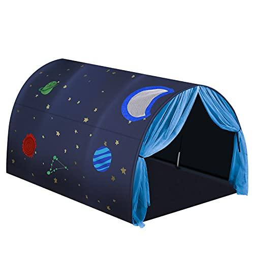 Vamei Tienda Campaña Infantil Espacial Tienda de Juegos para Niños Casitas Infantiles Tela Galaxy Casa de Juego Mosquitera Castillo Interior y Exterior Tienda de Campaña Infantil Tienda Playa Bebe