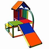 Move and Stic Mila Play House with Toddler Slide for Children's Bedrooms or Playrooms, Suitable for Garden, Multicoloured