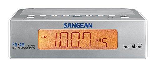 Sangean RCR-5 Horlogeradio (UKW/MW Tuner, LCD) zilver