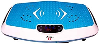 High quality Crazy Fit Vibration Massage Plate With USB Playback Function and Touch Panel (Color : Blue)
