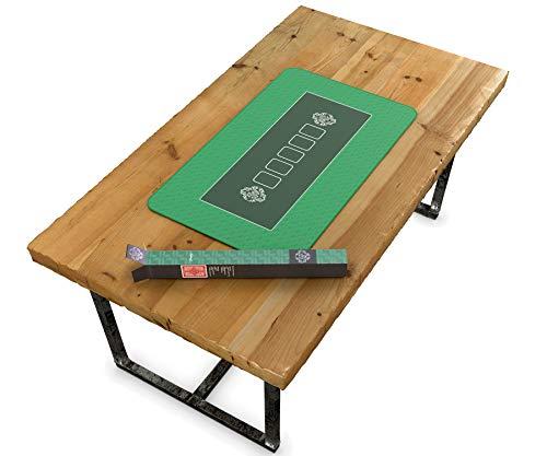Profi Pokermatte grün in 100 x 60cm von Bullets Playing Cards für den eigenen Pokertisch – Deluxe Pokertuch – Pokerteppich – Pokertischauflage – ideal als Geschenk - 5