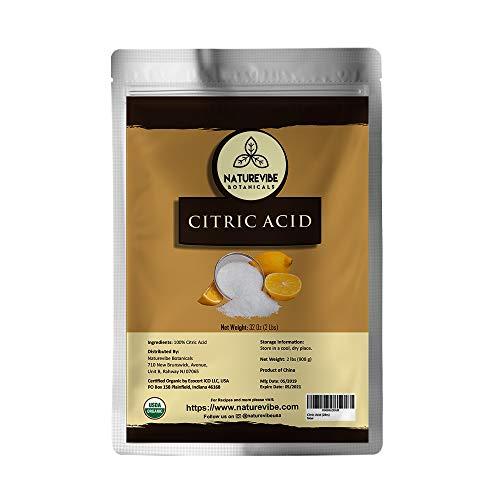 Naturevibe Botanicals Citric Acid, 2 Pound   100% Natural   Food Grade   Flavoring agent   Natural Enhancer (32 Ounces)
