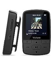 Victure Reproductor MP3 Bluetooth 4.1 Clip Running Reproductor de Música para el Deporte FM Radio Podometro E-Book Auriculares Soporte SD USB TF hasta 128 GB Tarjeta