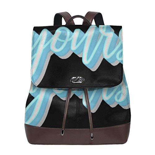 Seien Sie Sich selbst Damen Leder Umhängetasche, Outdoor-Tasche und Schultasche