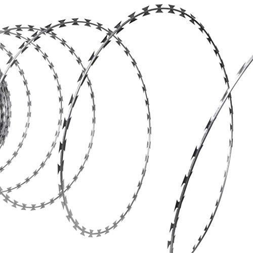 vidaXL Stacheldraht Verzinkter Stahl 150 m Natodraht Klingendraht Sperrdraht