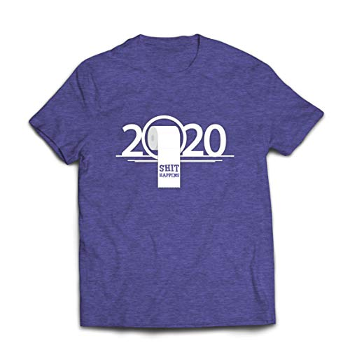 lepni.me Mannen T-shirt Toilet Paper Shortage Apocalypse 2020 Quarantine Shit Happens