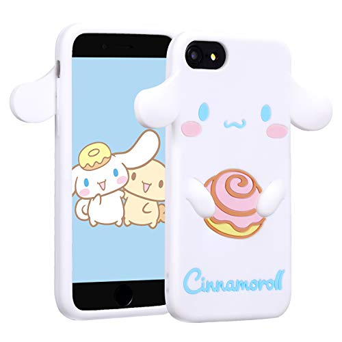 Allsky Case for iPhone 8/7/6/6S 4.7',Cartoon Soft Silicone Cute 3D Fun Cool Cover,Kawaii Unique Funny Kids Girls Teens Animal Character Rubber Skin Shell Shockproof Funny Cases for iPhone6 Cinnamoroll