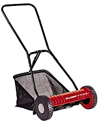 Einhell hand lawnmower GC-HM 40 (for up to 250 m², mowing spindle with 5 steel knives, 4-step cutting height adjustment 15 - 35 mm, grass catcher)