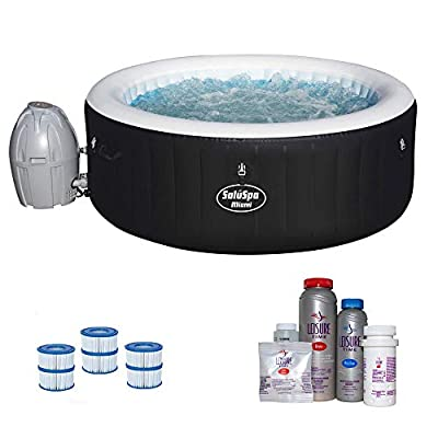 Bestway SaluSpa Inflatable Hot Tub with Spa Bromine Kit & Filter Cartridges