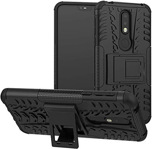 Cassby Shockproof Kickstand Back Case Cover for Nokia 6.1 Plus – Black