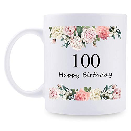 100th Birthday Gifts for Women - 1921 Birthday Gifts for Women, 100 Years Old Birthday Gifts Coffee Mug for Mom, Wife, Friend, Sister, Her, Colleague, Coworker - 11oz