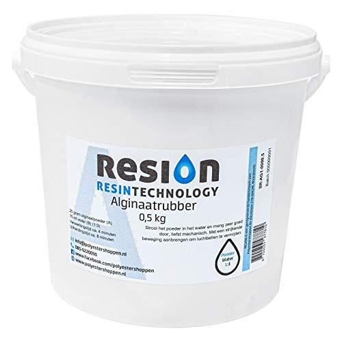 RESION Alginaat poeder afvormmassa, wit roze, 500 g, afvormpoeder, snelafvormmassa, in 10 minuten afvormen, biologisch afbreekbaar, huidvriendelijk