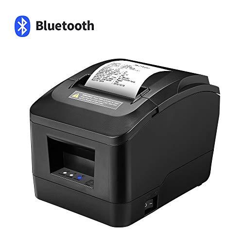 SVANTTO Bluetooth USB 80mm Thermoempfangsdrucker für Android/Windows mit Auto-Cutter