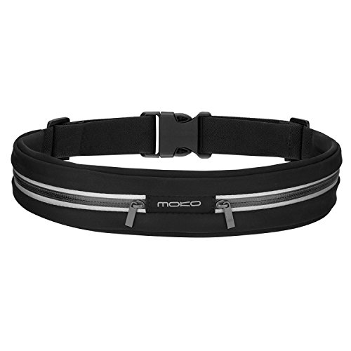 MoKo Sports Running Belt, Outdoor Dual Pouch...
