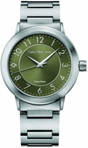 Calvin Klein K8711150 - Reloj analógico de Cuarzo para Hombre con Correa de Acero Inoxidable, Color Plateado