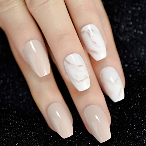 Faux Ongles 24Pcs Starry Sky Cat Eyes False Nails Black Press on Fake Nails Tips Daily Finger Wear Free Glue Sticker