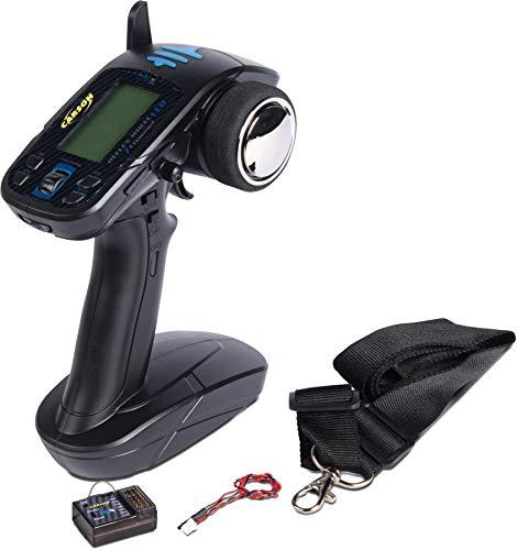 Carson FS Reflex Wheel LCD 2.4G 7 Kanal, Fernsteuerung, mit Empfänger, Sender, Modellbau, Zubehör für RC Fahrzeug/ferngesteuertes Auto, 500501016