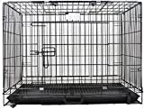 Hanu Heavy Duty Strong Metal Crate Cage for Large Adult Dog (49 Inches)