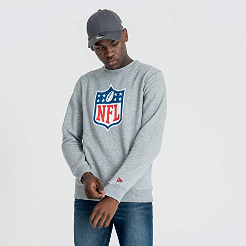A NEW ERA ne92159fa14 Team Logo Crew Sweat Unisexe Adulte XXXL Gris chiné