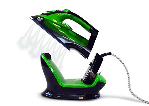 XSQUO Useful Tech Plancha DE Vapor 2 EN 1 INALAMBRICA O con Cable 2.200W Suela CERÁMICA. Vapor Vertical Y Horizontal. AIRVAPORE Plus