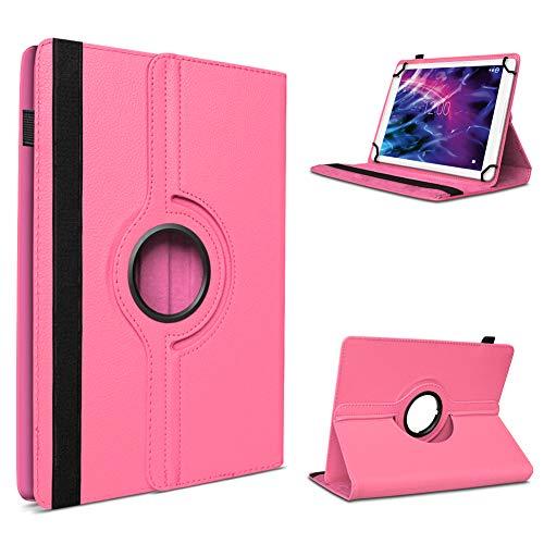 UC-Express Tablet Tasche Cover für Medion E6912 Hülle Schutzhülle Hülle 360° Drehbar Pink