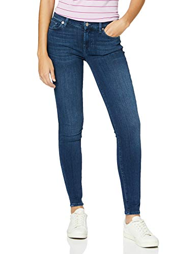7 For All Mankind Womens Skinny Jeans, Dark Blue, 31