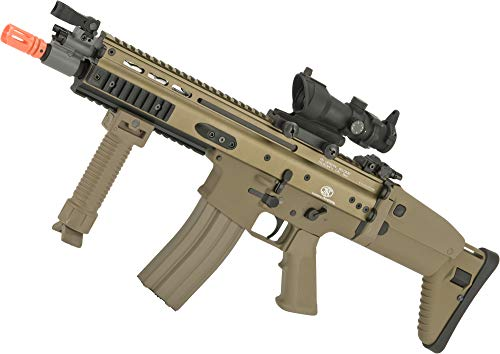 Evike FN Herstal Licensed Metal Scar CQB Airsoft AEG Rifle by G&G (Package: Tan/Gun Only)
