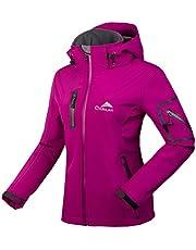 CIKRILAN Mujer Chaqueta Softshell Resistente al agua chaqueta al aire libre Ladies Deportes Camping Escalada de senderismo Coat